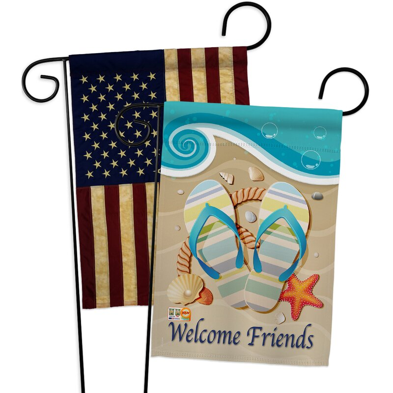 Breeze Decor Sunny Friends Impressions Decorative 2 Sided Polyester 19 X 13 In Garden Flag Wayfair