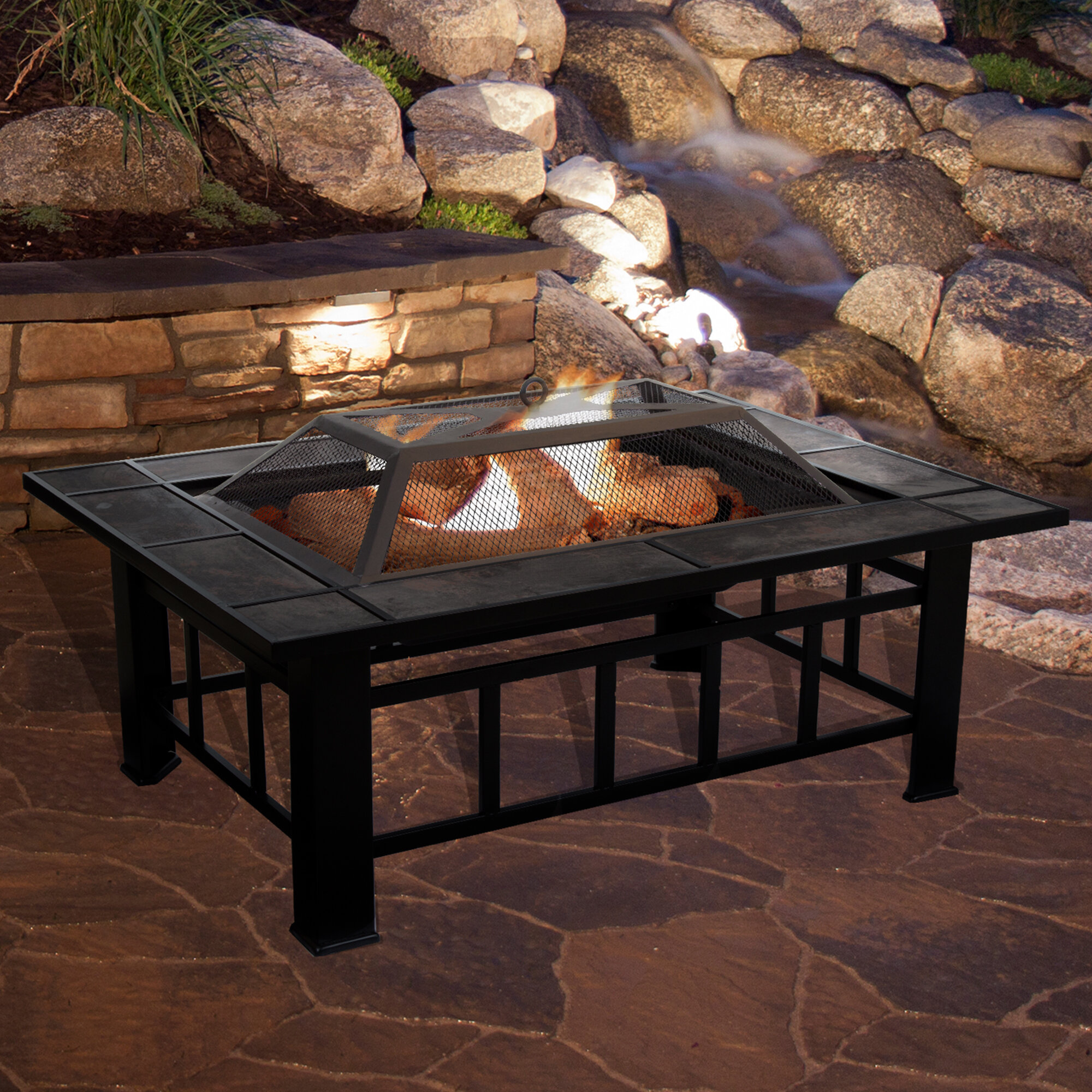 Beau Steel Wood Burning Fire Pit Table