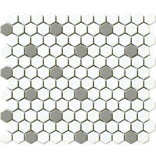 Quickview White Black Hexagon
