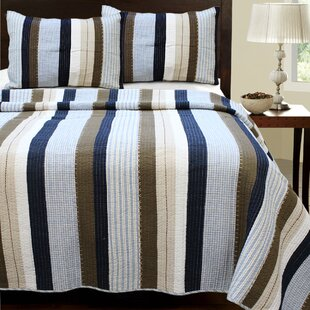 Nathan Striped Quilt Set