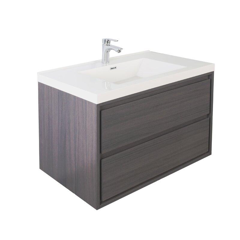 Orren Ellis Wittig 41 Wall Mounted Single Bathroom Vanity Set Wayfair