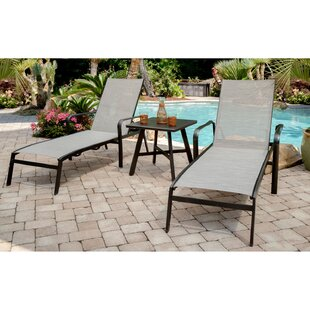 Gayden 3 Piece All-Weather Sun Lounger Set with Table