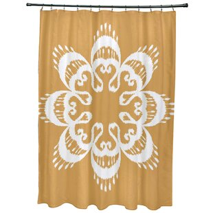 Meetinghouse Ikat Mandala Geometric Print Single Shower Curtain