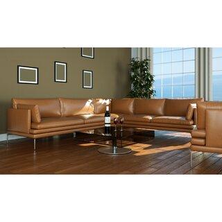 Alaysia Symmetrical Leather Sectional by Brayden Studio SKU:AA642003 Shop