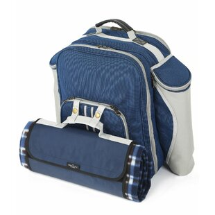 Insulated Picnic Backpack, Service for 2