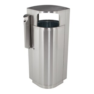 Leafview Stainless Steel Trash Can