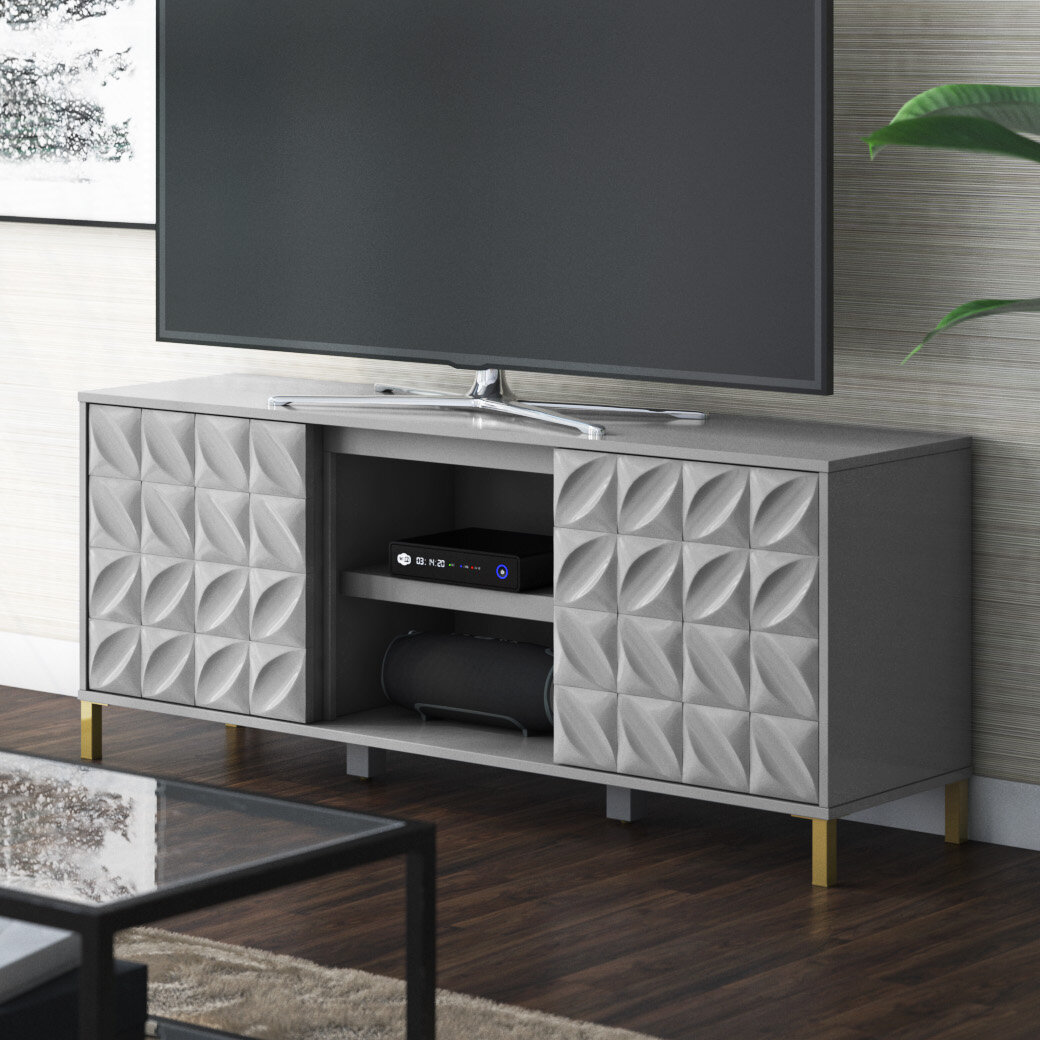 Ebern Designs Mitchellville Tv Stand For Tvs Up To 60 Reviews Wayfair