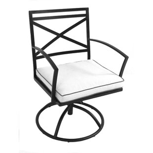 Maddux Swivel Patio Dining Chair with Cushion