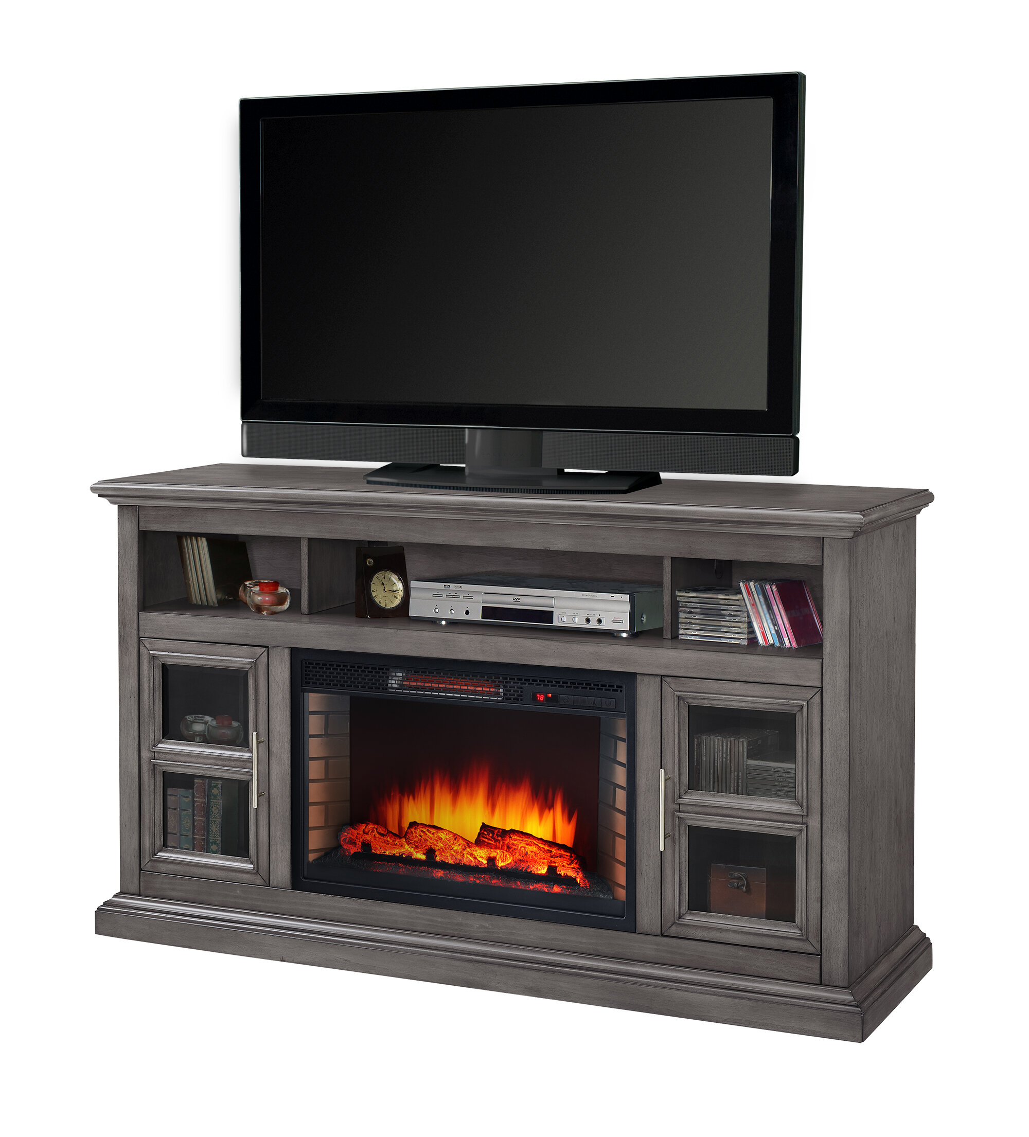 "Muskoka TV Stand for TVs up to 75"" with Fireplace Included"