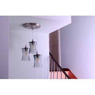 3-Light Pendant by Bicycle Glass Co.