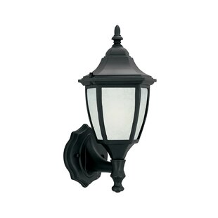 Affordable Builder Cast Aluminum-ES 1-Light Outdoor Wall lantern By Designers Fountain