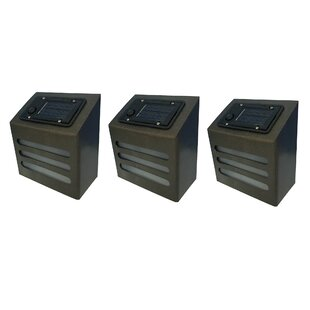 Winsome House Solar 1-Light Deck, Step, and Rail Light (Set of 3)
