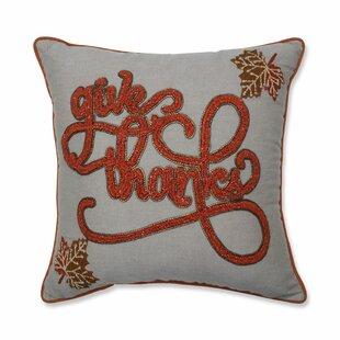 Dorman Give Thanks Harvest Cotton Throw Pillow