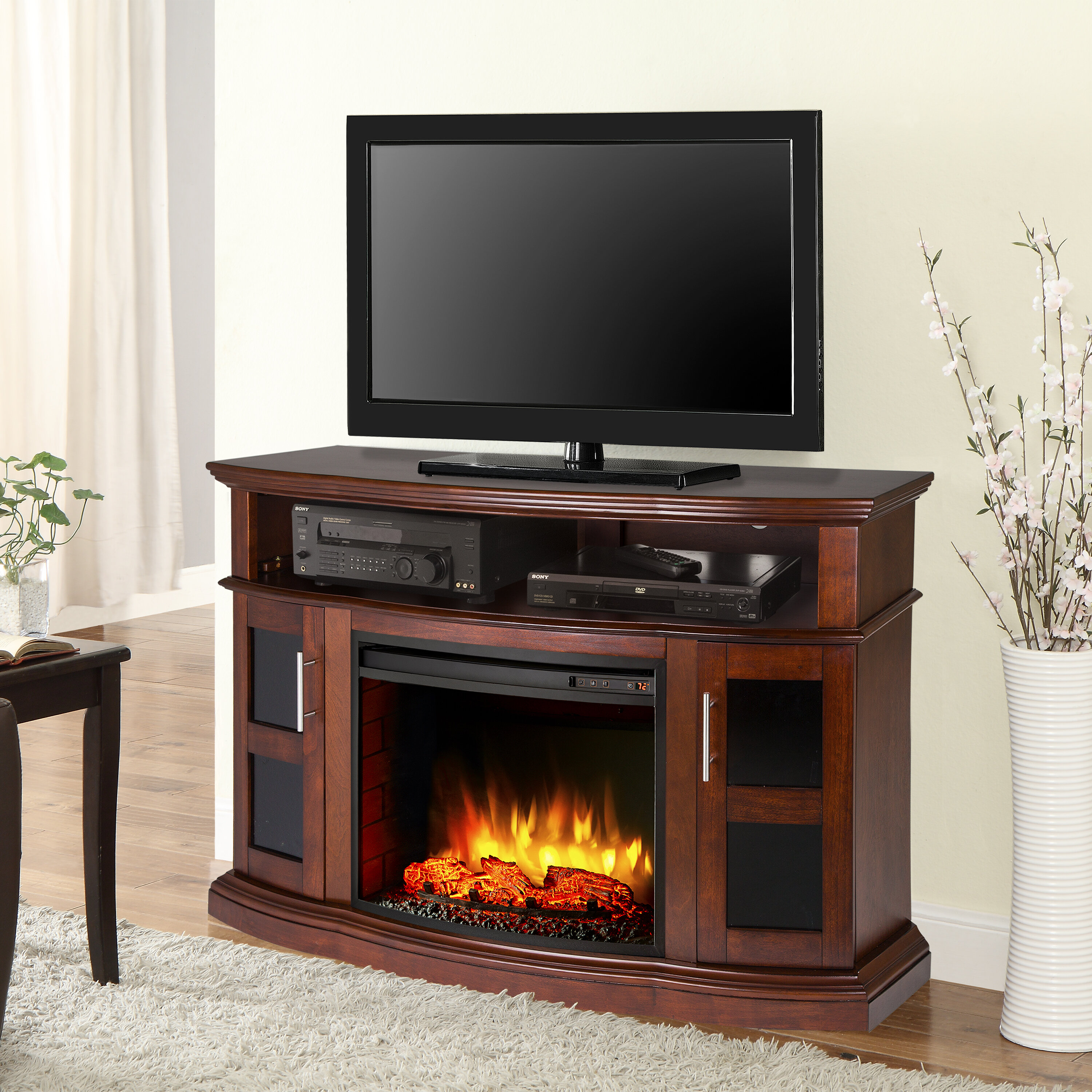 Red Barrel Studio Bouvier Tv Stand For Tvs Up To 60 With Electric