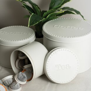 3 Piece Kitchen Canister Set (Set of 3)
