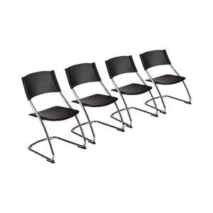 4-tlg. Freischwinger-Set von M-Möbel