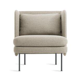 Blu Dot Bloke Velvet Armchair