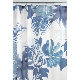 Watercolor Fern Single Shower Curtain