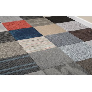 "DIY 20"" x 20"" Plush Cut Carpet Tile in Assorted"