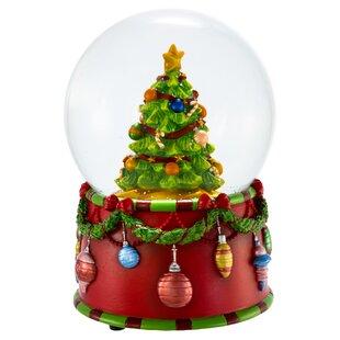 musical christmas tree water globe