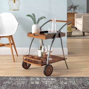 Farren Wood Bar Cart by Ivy Bronx