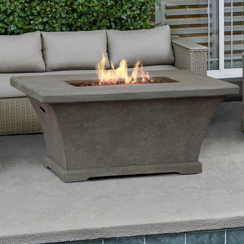 real flame monaco concrete propane fire pit table reviews wayfair. Black Bedroom Furniture Sets. Home Design Ideas