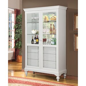 Ardsley Lighted Curio Cabinet by Rosecliff Heights