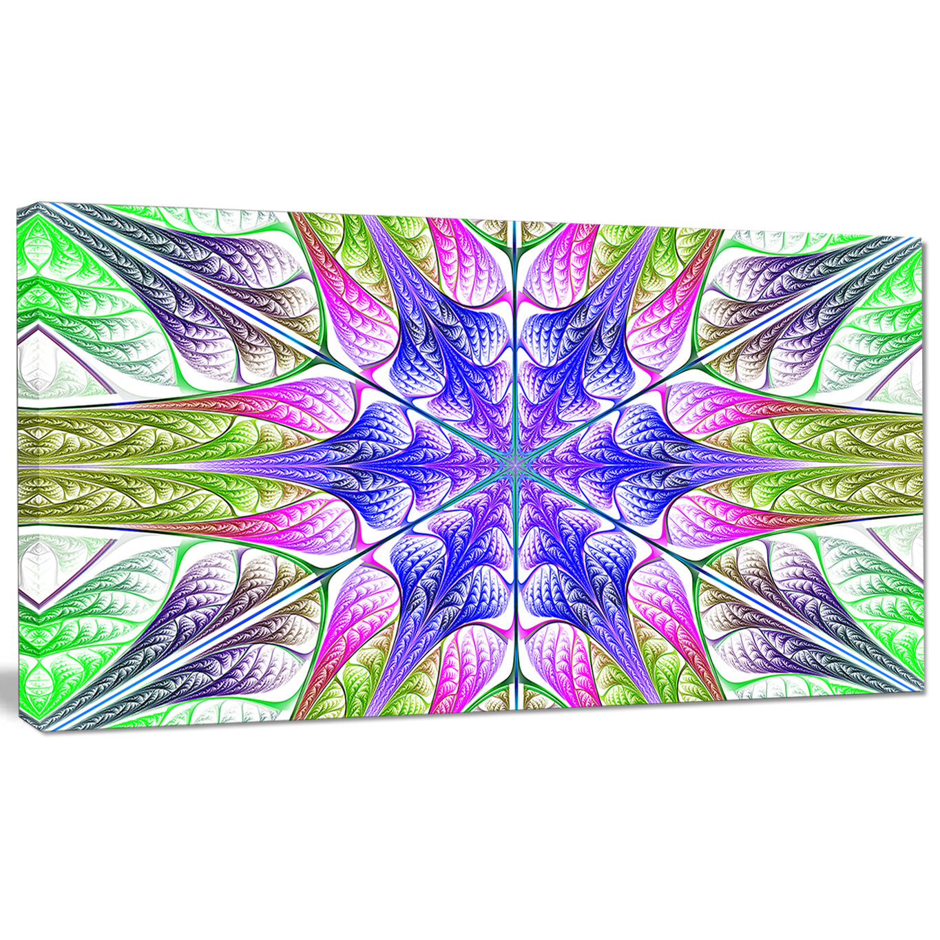 Designart Extraordinary Fractal Light Green Art Graphic Art Print On Wrapped Canvas Wayfair