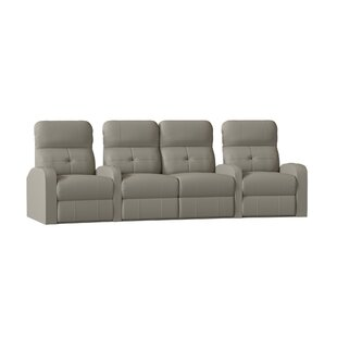 Tufted Home Theater Row Seating Row of 4