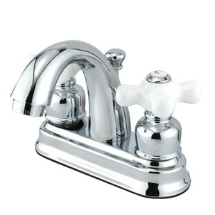 Kingston Brass Restoration Centerset Bathroom Faucet with Drain Assembly