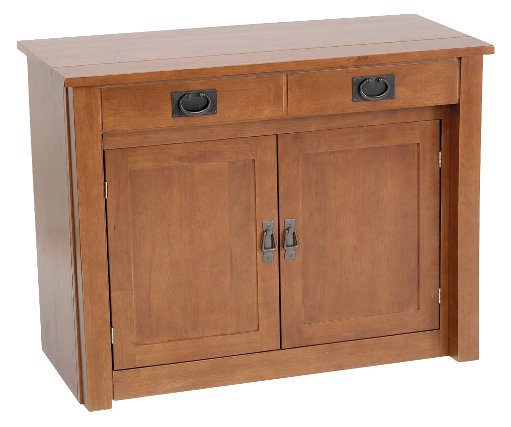 Stakmore Shaker Mission Style Expanding Accent Cabinet Reviews Wayfair