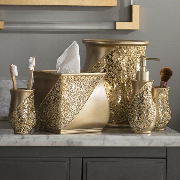 Willa Arlo Interiors Irie Champagne 6 Piece Bathroom Accessory Set Reviews Wayfair