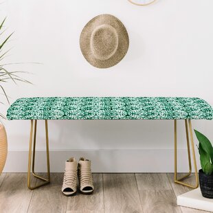 East Urban Home Little Arrow Co Modern Moroccan Emerald Upholstered Bench