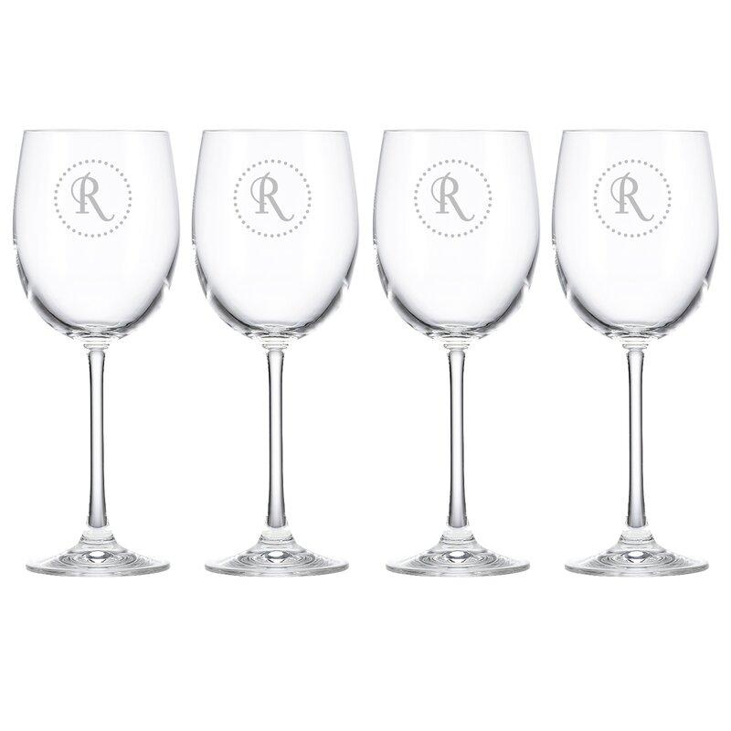 Lenox Tuscany Dot Monogram 12 Oz Crystal Red Wine Glass Wayfair