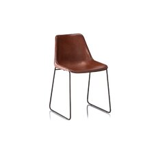 gautier genuine leather upholstered dining chair