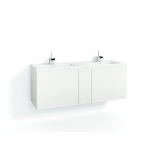 Philomene 140cm Wall-Mounted Vanity Unit Base By Ebern Designs
