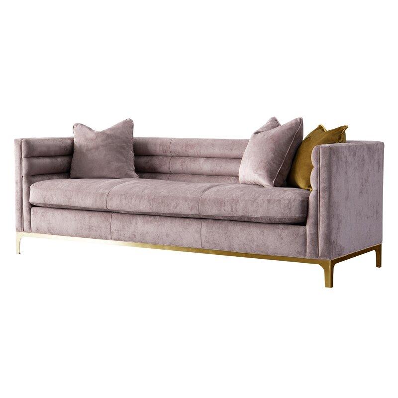 Acanva Modern Tufted Velvet Down-Filled Sofa