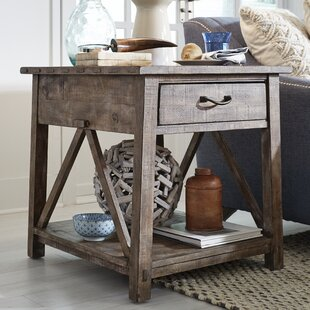 Gracie Oaks Obadiah End Table with Storage