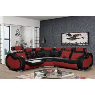 Leather Corner Sofas You\'ll Love | Wayfair.co.uk