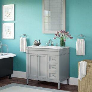 Millfield 37 Single Bathroom Vanity Set with Mirror by Andover Mills