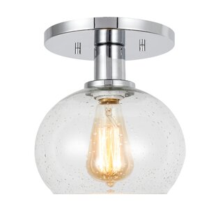 Glassman 1-Light Semi Flush Mount by Breakwater Bay