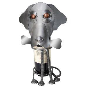 Labrador Dog Caddy 1 Bottle Tabletop Wine..