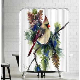 Suren Nersisyan Cardinal Female Single Shower Curtain
