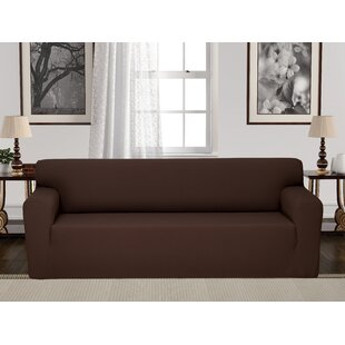Box Cushion Stretch Sofa Slipcover by Charlton Home