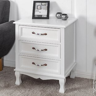 August Grove Voorhees 3 Drawer Nightstand