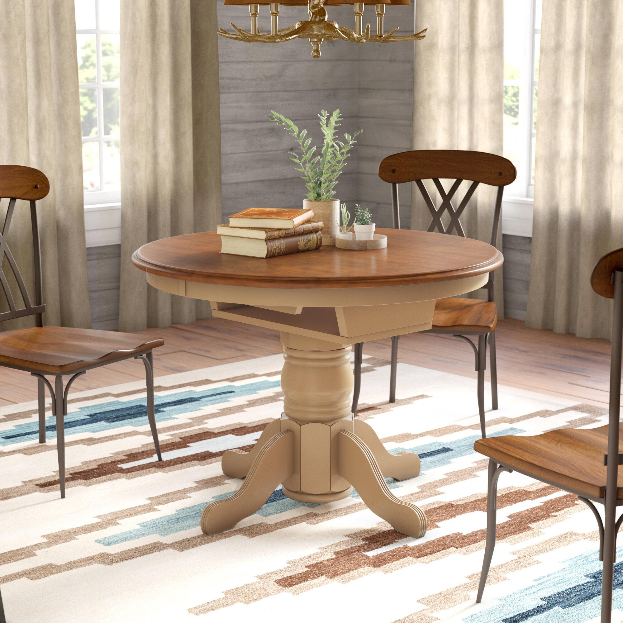 loon peak agrihan extendable solid wood dining table reviews wayfair rh wayfair com  dining room set solid wood