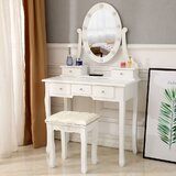 Fazeley Vanity Set with Stool and Mirror by One Allium Way®