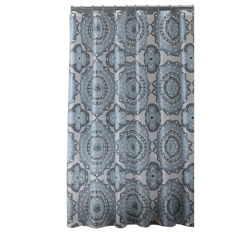 Bath Bliss Mandala Design PEVA Shower Curtain & Reviews | Wayfair