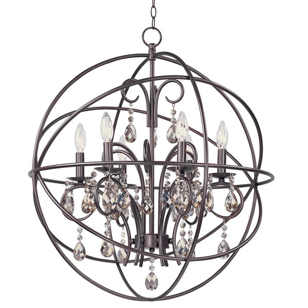 Willa Arlo Interiors Alden 6 Light Globe Chandelier Reviews