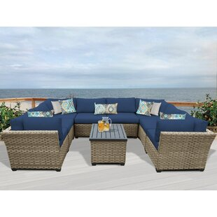 TK Classics Monterey 9 Piece Sectional Set with Cushions